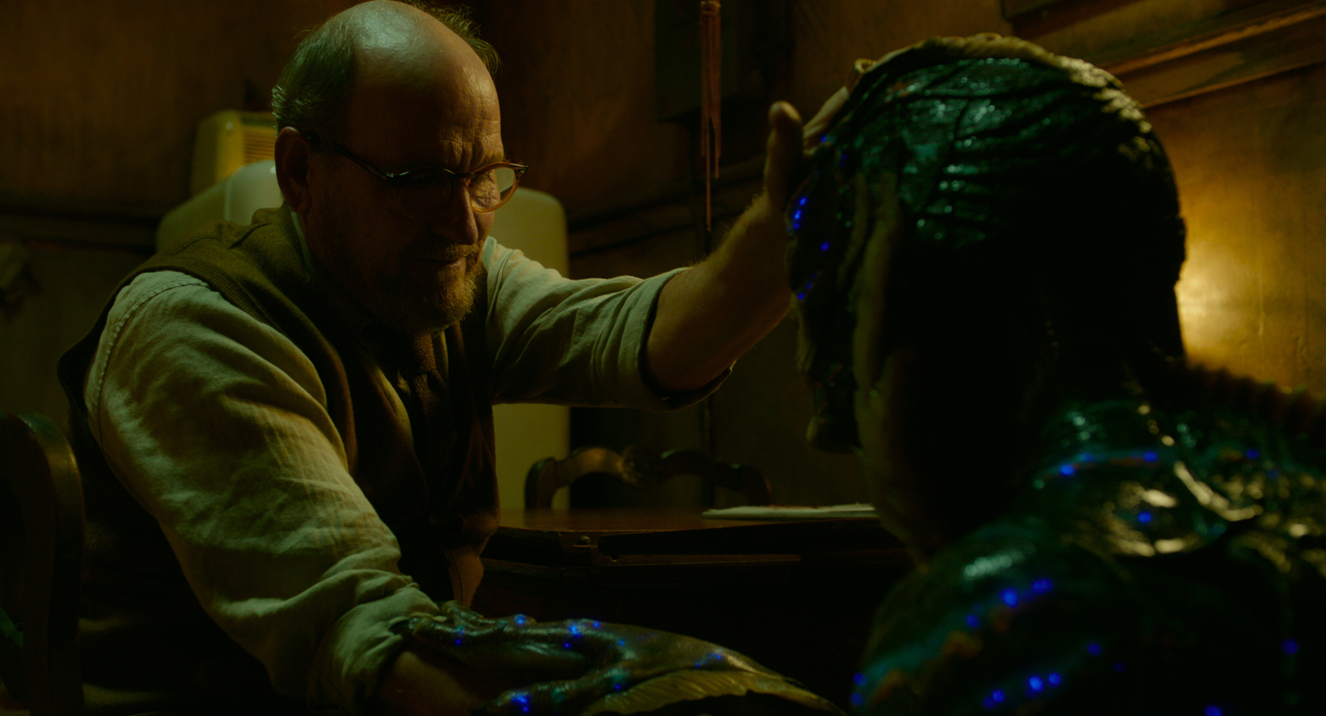 Richard Jenkins and Doug Jones in the film THE SHAPE OF WATER. Photo Courtesy of Fox Searchlight Pictures. © 2017 Twentieth Century Fox Film Corporation All Rights Reserved