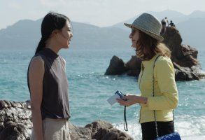 Kim Min-hee and Isabelle Huppert in Claire's Camera