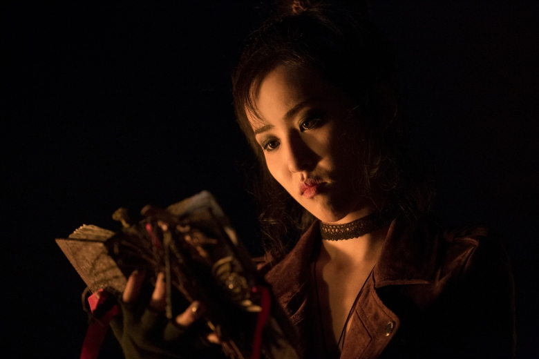 """RUNAWAYS - """"Reunion"""" - Episode 101 - A group of six Los Angeles teens, fractured by a tragic loss, reunite only to discover that their parents may be hiding a terrible secret that turns their world upside down. Nico Minoru (Lyrica Okano), shown. (Photo by: Paul Sarkis/Hulu)"""