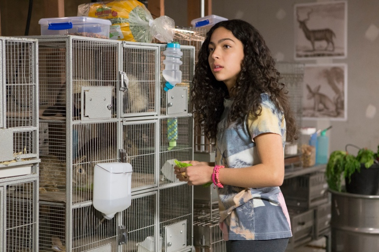 """MARVEL'S RUNAWAYS - """"Reunion"""" - Episode 101 - A group of six Los Angeles teens, fractured by a tragic loss, reunite only to discover that their parents may be hiding a terrible secret that turns their world upside down. Molly Hernandez (Allegra Acosta), shown. (Photo by: Paul Sarkis/Hulu)"""