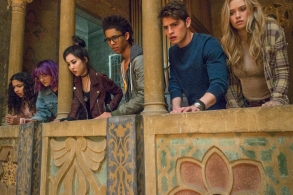 """RUNAWAYS - """"Pilot"""" - Episode 101 - Every teenager thinks their parents are evil. What if you found out they actually were?  MarvelÕs Runaways is the story of six diverse teenagers who can barely stand each other but who must unite against a common foe Ð their parents. The 10-episode series premieres Tuesday, November 21st. The series stars Rhenzy Feliz, Lyrica Okano, Virginia Gardner, Ariela Barer, Gregg Sulkin, Allegra Acosta, Annie Wersching, Ryan Sands, Angel Parker, Ever Carradine, James Marsters, Kevin Weisman, Brigid Brannah, James Yaegashi, Brittany Ishibashi, and Kip Pardue. From left: Molly Hernandez (Allegra Acosta), Gert Yorkes (Ariela Barer), Nico Minoru (Lyrica Okano), Alex Wilder (Rhenzy Feliz), Chase Stein (Gregg Sulkin) and Karolina Dean (Virginia Gardner), shown. (Photo by: Paul Sarkis/Hulu)"""