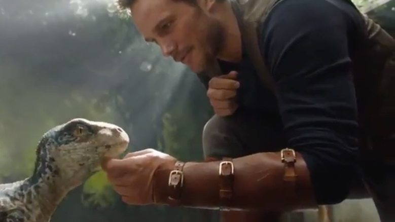 'Jurassic World: Fallen Kingdom' First Footage: Watch Chris Pratt Play With A Baby Raptor