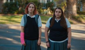 "Beanie Feldstein and Saoirse Ronan in ""Lady Bird."""