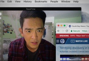 John Cho appears in Search by Aneesh Chaganty, an official selection of the NEXT program at the 2018 Sundance Film Festival. Courtesy of Sundance Institute | photo by Juan Sebastian Baron.  All photos are copyrighted and may be used by press only for the purpose of news or editorial coverage of Sundance Institute programs. Photos must be accompanied by a credit to the photographer and/or 'Courtesy of Sundance Institute.' Unauthorized use, alteration, reproduction or sale of logos and/or photos is strictly prohibited.