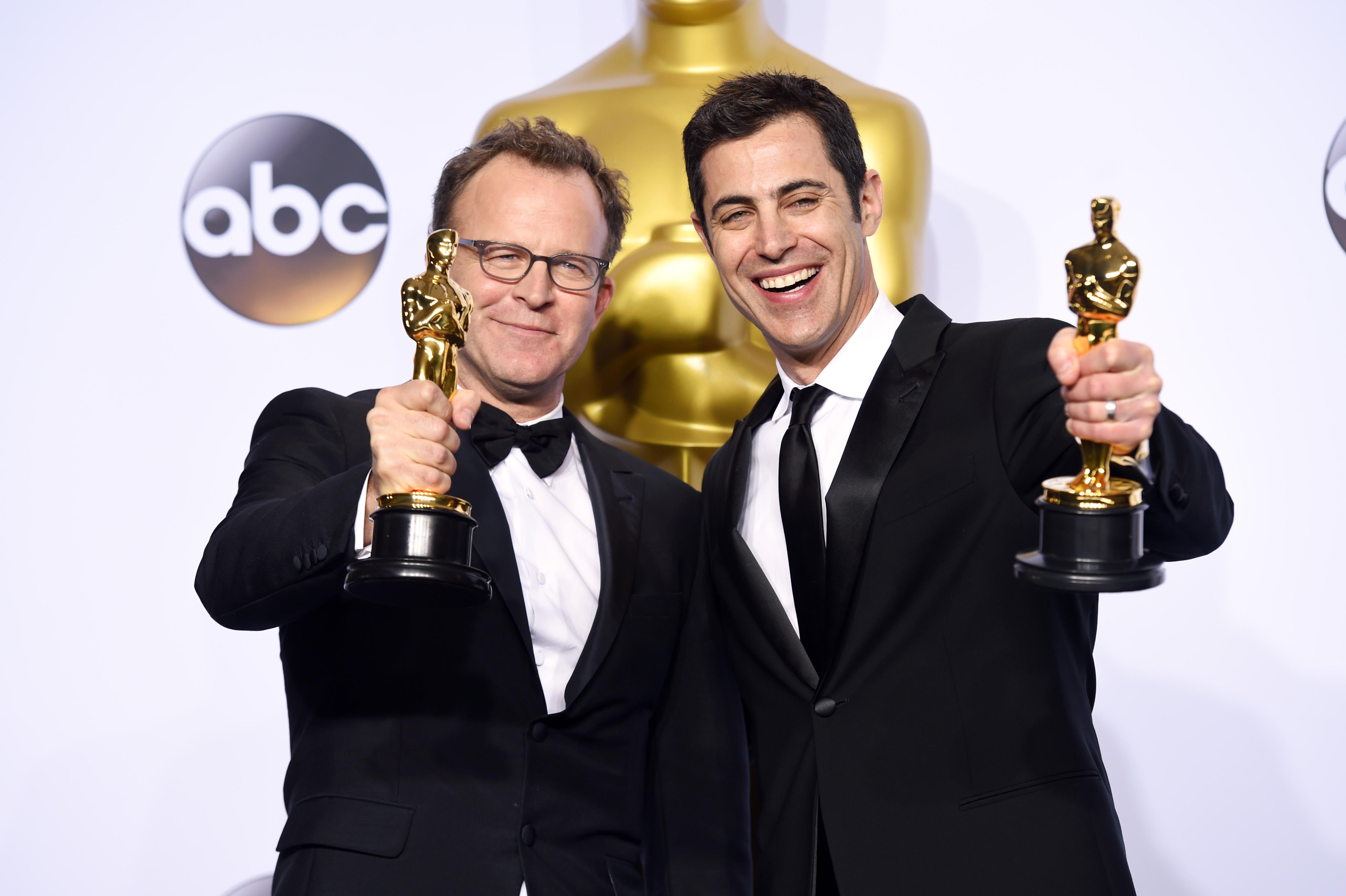 Tom McCarthy and Josh Singer - Original Screenplay, Spotlight88th Annual Academy Awards, Press Room, Los Angeles, America - 28 Feb 2016