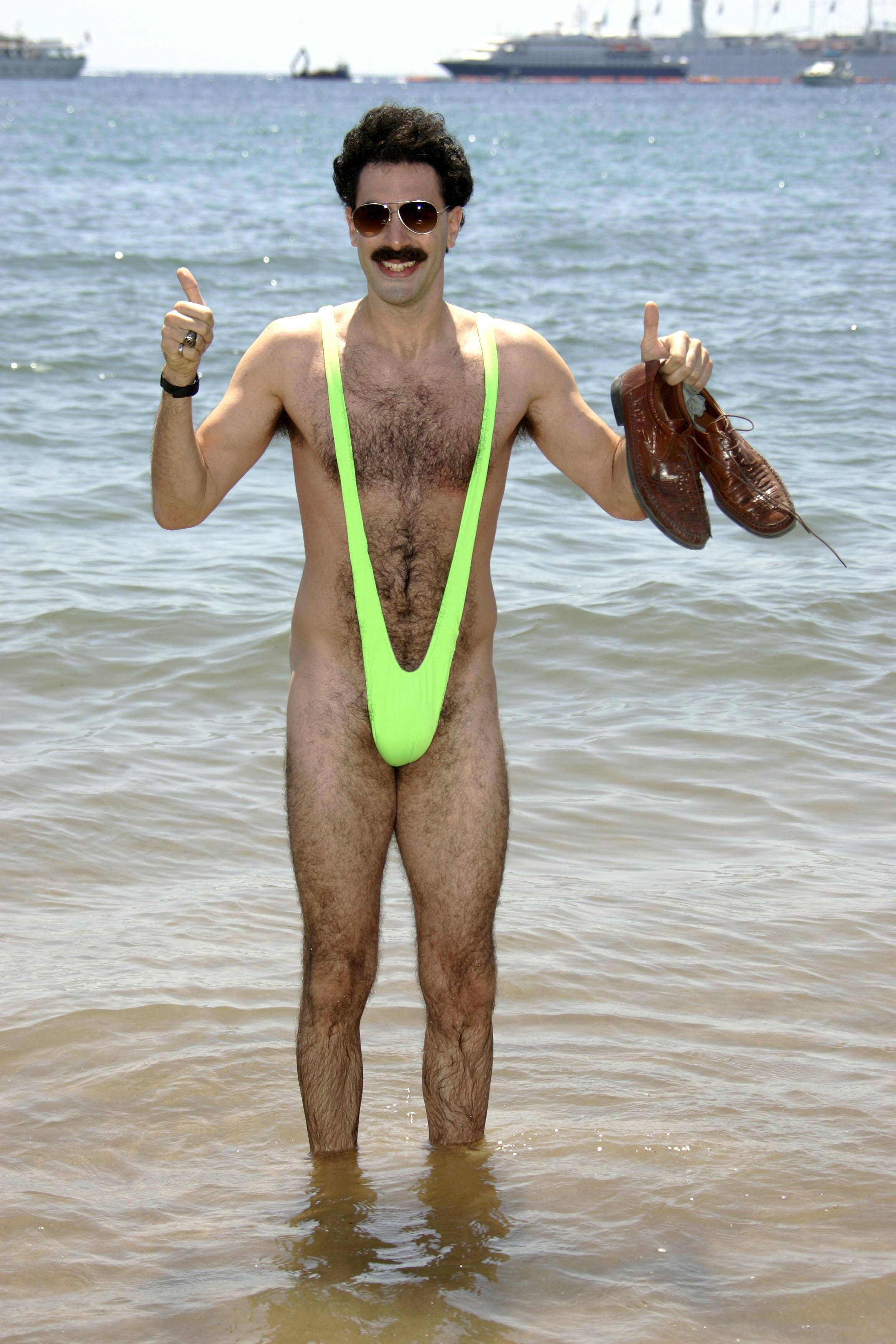 Tourists Sacha Arrested Wearing Helps 'borat' For Bikini Cohen Baron 5L3jq4RA
