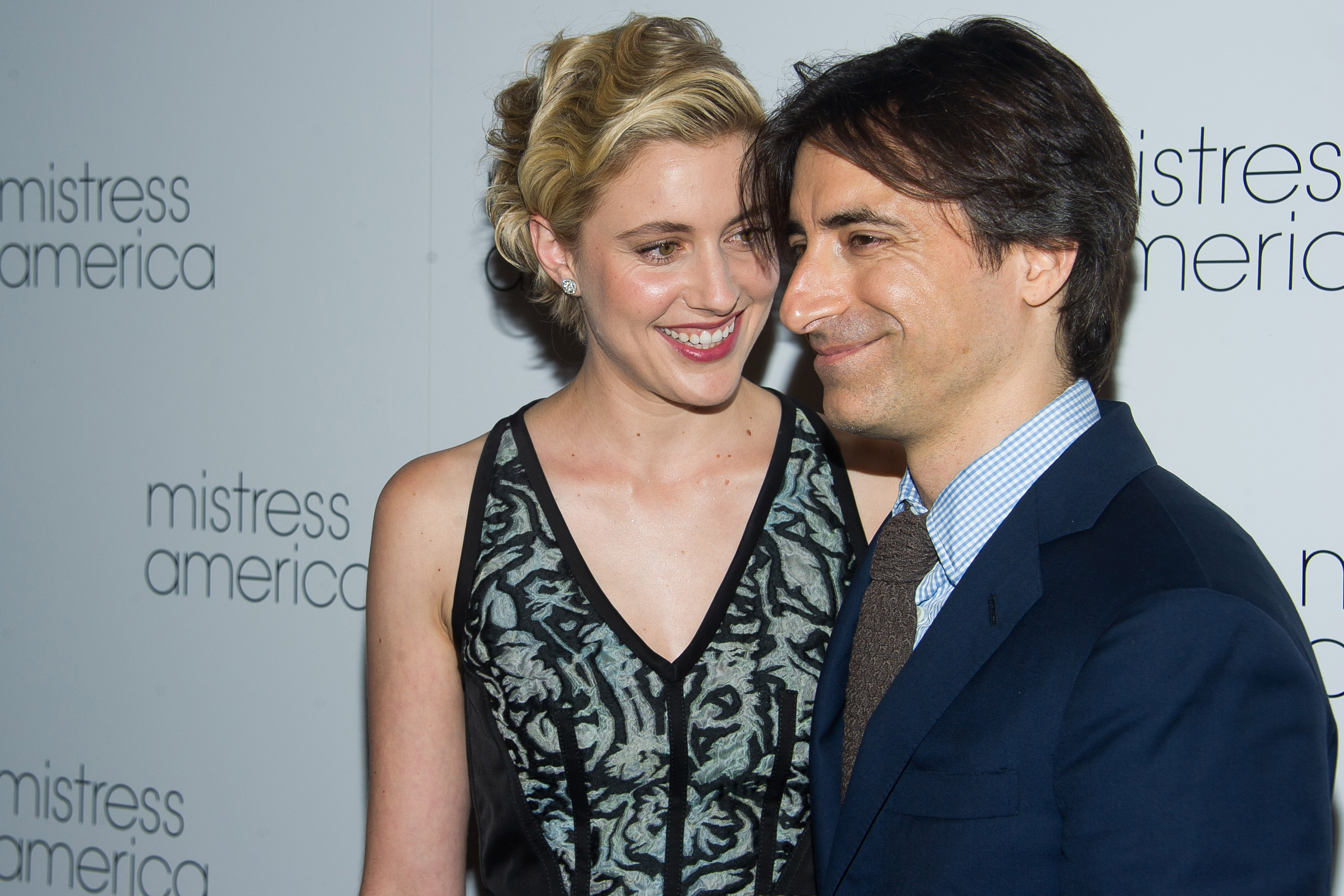 "Greta Gerwig, left, and Noah Baumbach attend the premiere of ""Mistress America"" at the Landmark Sunshine Cinema, in New YorkNY Premiere of ""Mistress America"", New York, USA"