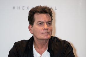 US actor Charlie Sheen, ambassador of the condom brand 'Lelo Hex', attends a press conference to celebrate the launch of the condom brand, in LondonBritain Charlie Sheen Press Conference, London, United Kingdom