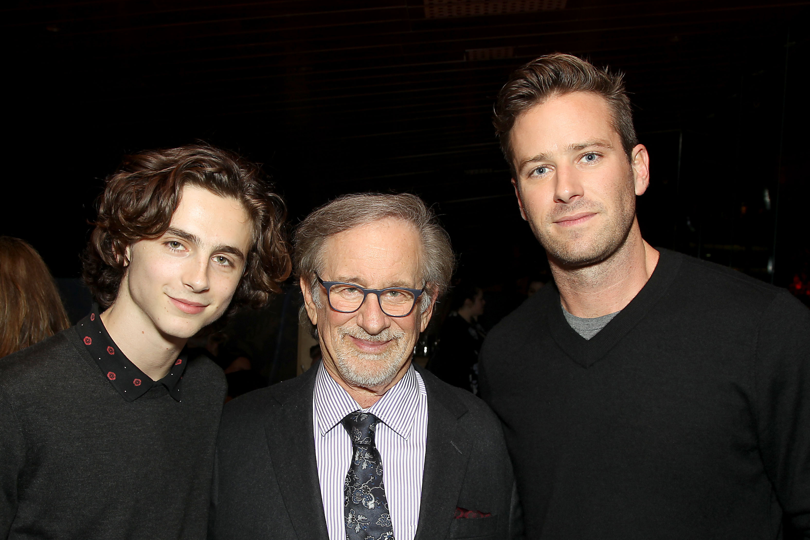 Timothee Chalamet, Steven Spielberg, Armie HammerHBO Documentary 'Spielberg' Premiere Screening at the 55th New York Film Festival - After Party, USA - 05 Oct 2017