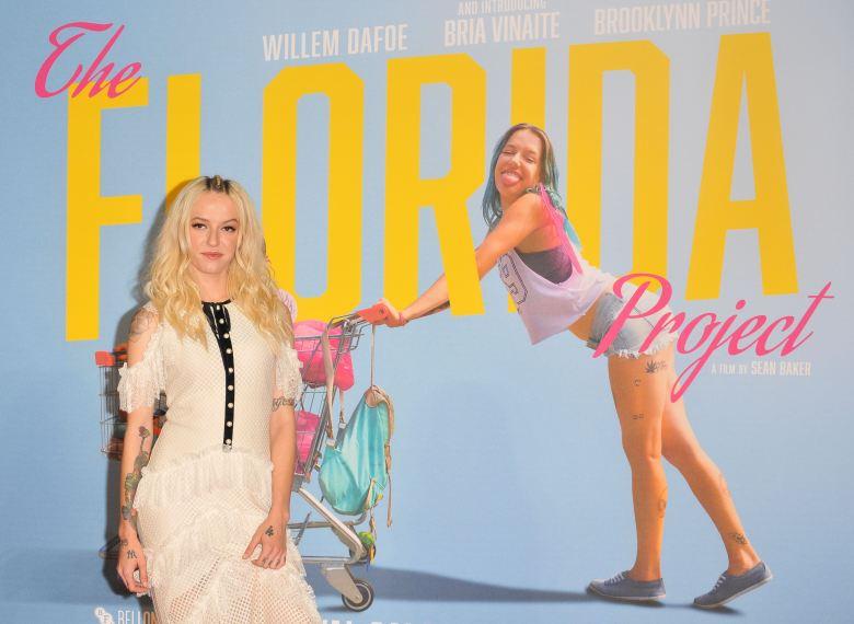 Bria Vinaite at The Florida Project premiere