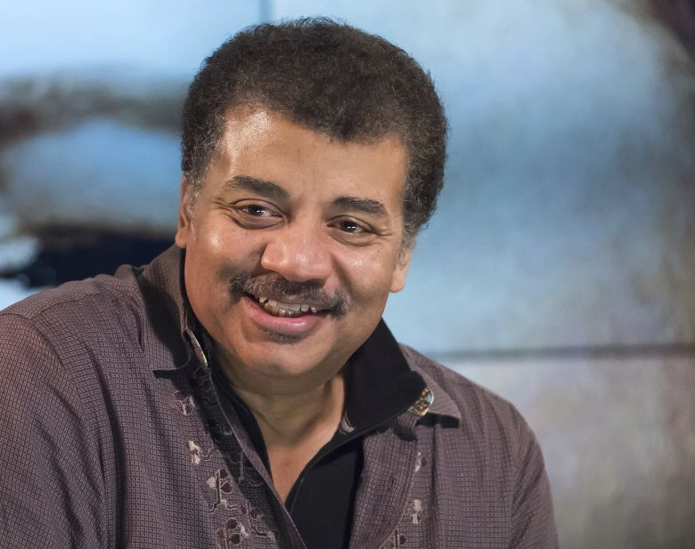 """Neil deGrasse Tyson attends a fan event celebrating the release Kelly Clarkson's album """"Meaning of Life"""" at YouTube Space New York, in New YorkKelly Clarkson Album Release Fan Event, New York, USA - 01 Nov 2017"""