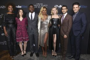 Issa Rae, Abbi Jacobson, Sterling K. Brown, Mary J. Blige, Diane Kruger, Kumail Nanjiani, James Franco. Issa Rae, from left, Abbi Jacobson, Sterling K. Brown, Mary J. Blige, Diane Kruger, Kumail Nanjiani and James Franco at the IndieWire Honors