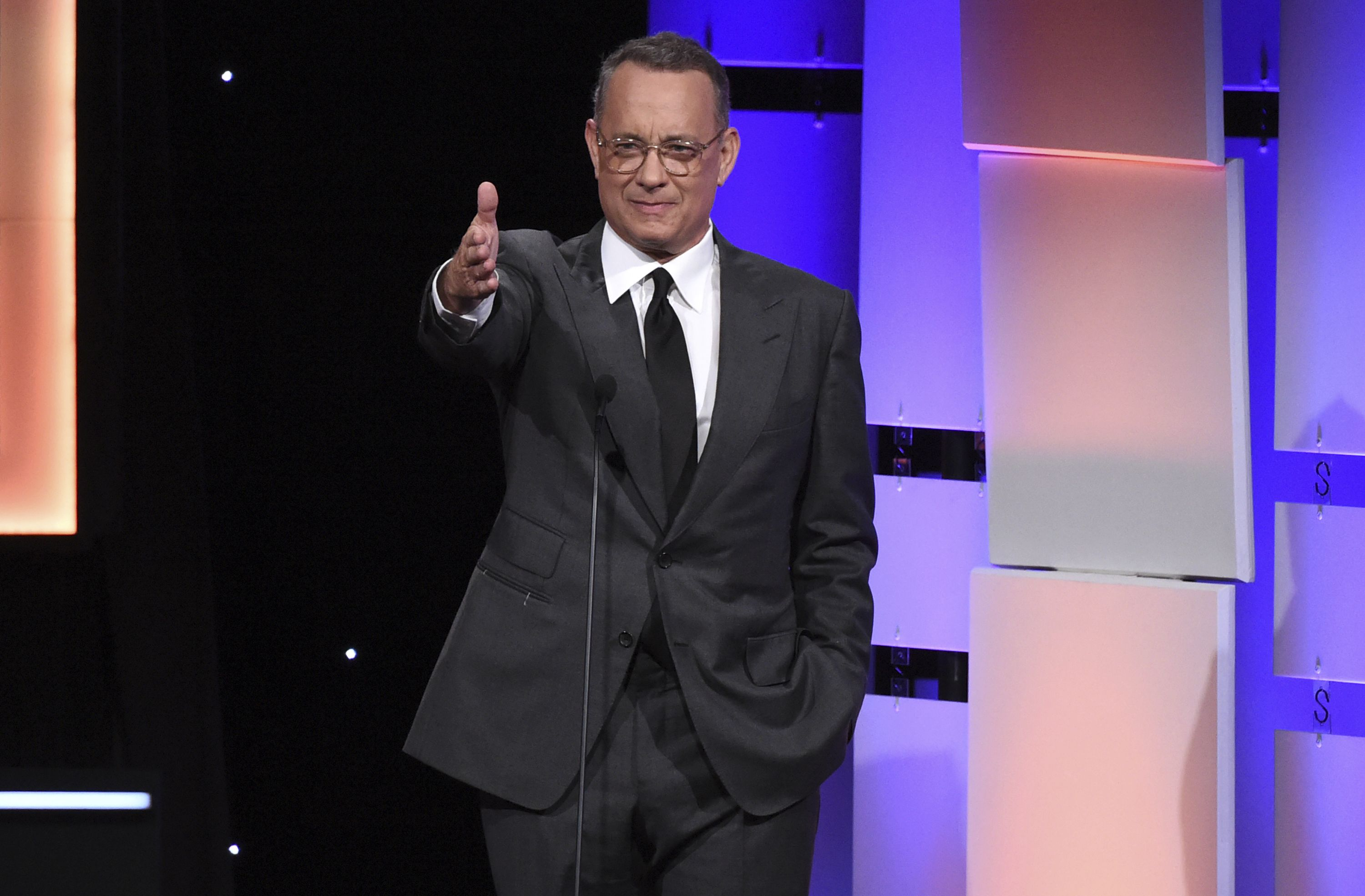 Tom Hanks speaks at the 31st annual American Cinematheque Award at the Beverly Hilton Hotel, in Beverly Hills, Calif2017 American Cinematheque Award - Inside, Beverly Hills, USA - 10 Nov 2017