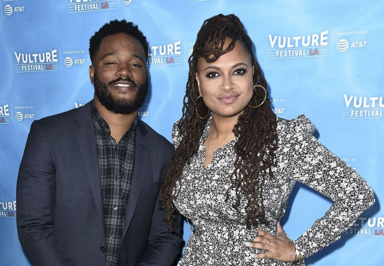 "Ryan Coogler, Ava DuVernay. Ryan Coogler, left, and Ava DuVernay attend the 2017 Vulture Festival Los Angeles ""Ava DuVernay & Ryan Coogler: In Conversation"" at the Hollywood Roosevelt Hotel, in Los Angeles2017 Vulture Festival - ""Ava DuVernay & Ryan Coogler: In Conversation"", Los Angeles, USA - 19 Nov 2017"