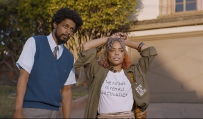 Lakeith Stanfield and Tessa Thompson appear in Sorry to Bother You by Boots Riley, an official selection of the U.S. Dramatic Competition at the 2018 Sundance Film Festival. Courtesy of Sundance Institute   photo by Doug Emmett.  All photos are copyrighted and may be used by press only for the purpose of news or editorial coverage of Sundance Institute programs. Photos must be accompanied by a credit to the photographer and/or 'Courtesy of Sundance Institute.' Unauthorized use, alteration, reproduction or sale of logos and/or photos is strictly prohibited.
