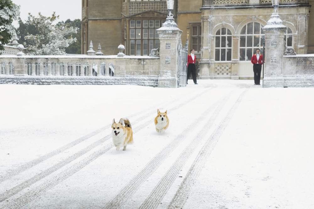 The Crown Season 2 Dogs, corgis, running Netflix
