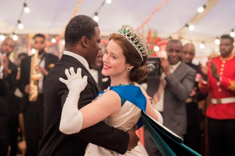 The Crown - Elizabeth, Nkrumah - Queen Elizabeth II and Nkrumah at a ball