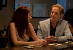 "YOU'RE THE WORST -- ""From The Beginning, I Was Screwed"" - Season Four, Episode 11 (Airs November 8, 10:00 pm e/p)  Pictured (l-r): Aya Cash as Gretchen, Chris Geere as Jimmy. CR: Byron Cohen/FXX"