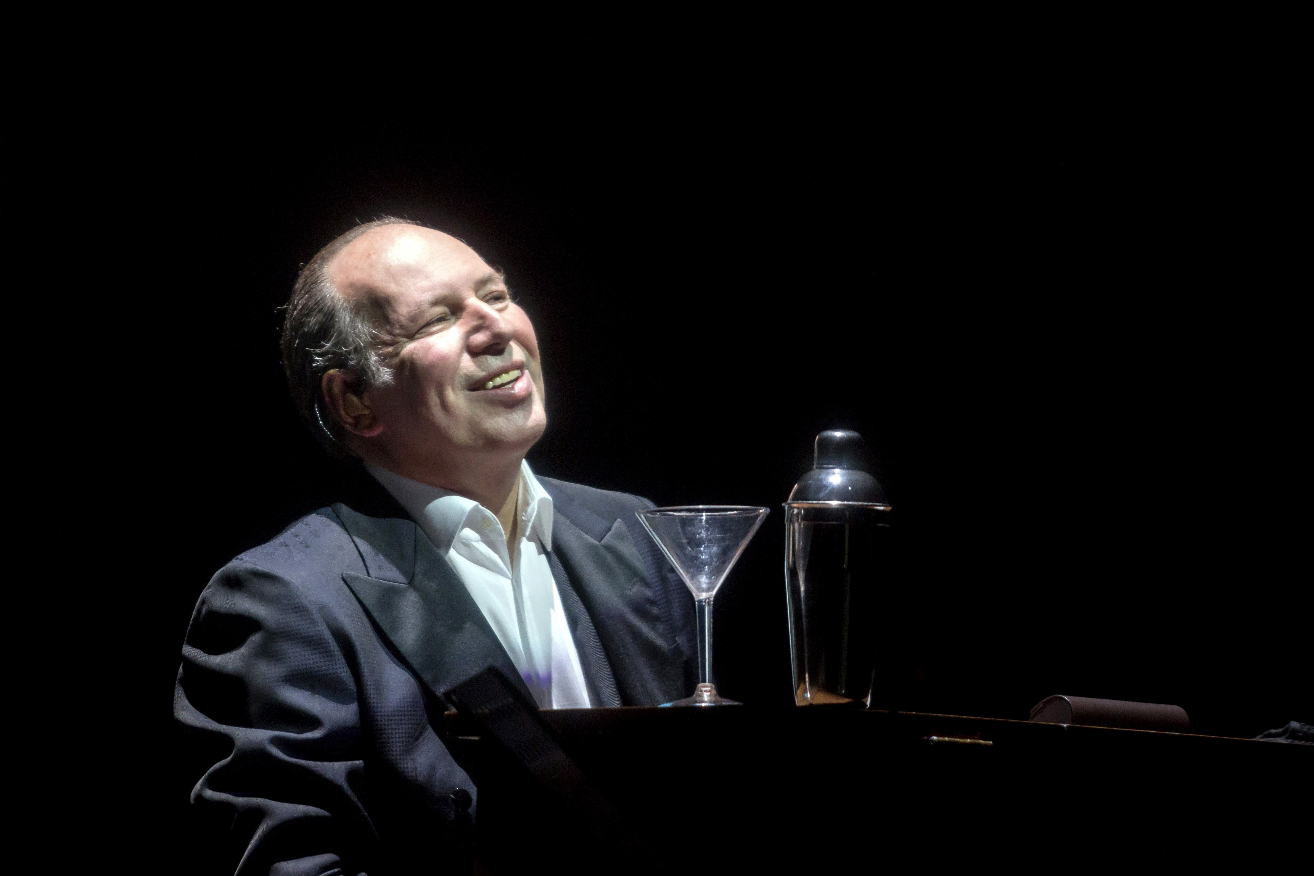 HUNGARY OUTMandatory Credit: Photo by BALAZS MOHAI/EPA/REX/Shutterstock (8854591b) Hans Zimmer Hans Zimmer in concert at the Papp Laszlo, Budapest, Hungary - 01 Jun 2017 German composer Hans Zimmer plays the piano as he performs during his concert.