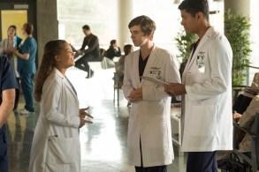 "Antonia Thomas, Freddie Highmore, and Chuku Modu, ""The Good Doctor"""