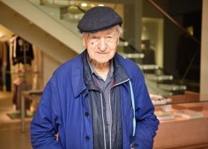 Jonas Mekas'Blue, Yellow, Red, Purple' exhibition by Jonas Mekas, New York, USA - 25 Oct 2017