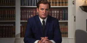 "Jason Clarke as Ted Kennedy in ""Chappaquiddick"""