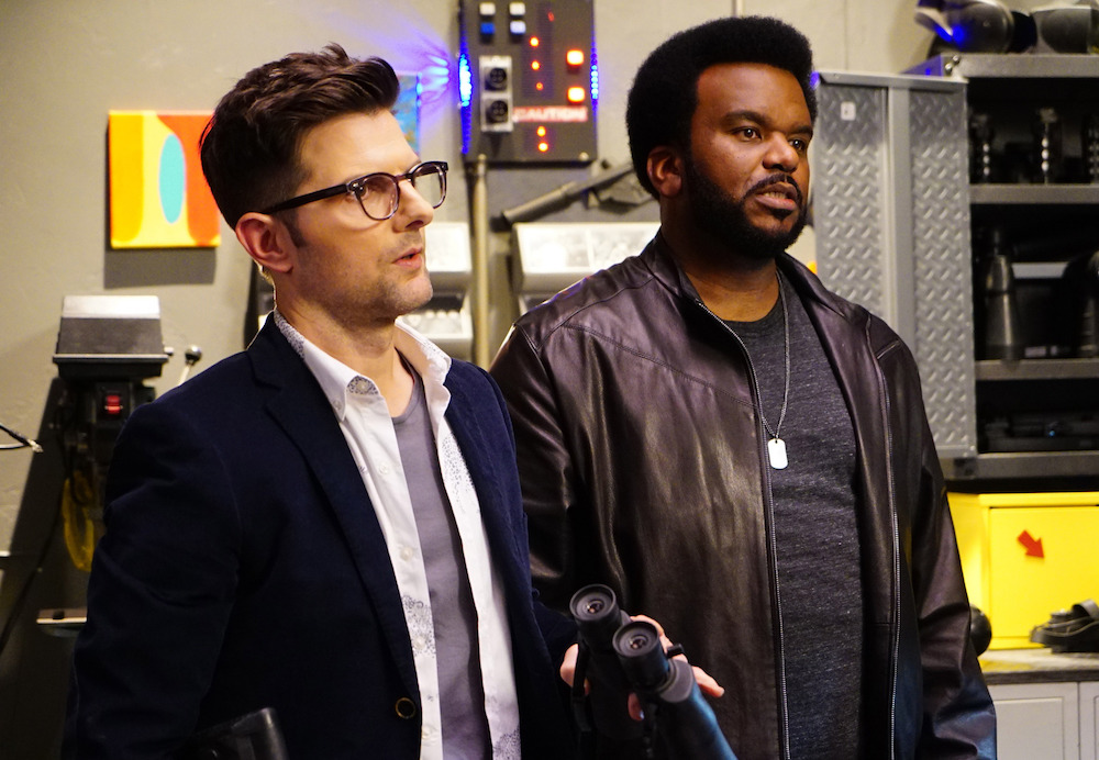 "GHOSTED: Pictured L-R: Adam Scott and Craig Robinson in the ""Hello Boys"" episode of GHOSTED airing Sunday, Jan. 14 (8:30-9:00 PM ET/PT) on FOX. ©2017 Fox Broadcasting Co. CR: Mike Yarish/FOX"
