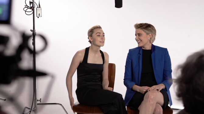Greta Gerwig and Saoirse Ronan on