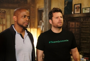 PSYCH: THE MOVIE -- Pictured: (l-r) Dule Hill as Gus Guster, James Roday as Shawn Spencer -- (Photo by: Alan Zenuk/USA Network)