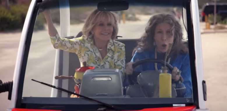 grace and frankie trailer lisa kudrow vibrators and rhinestones indiewire. Black Bedroom Furniture Sets. Home Design Ideas