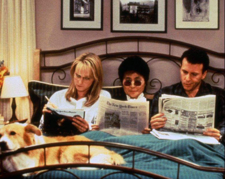No Merchandising. Editorial Use Only. No Book Cover UsageMandatory Credit: Photo by Moviestore/REX/Shutterstock (3435404m)Helen Hunt, Yoko Ono, Paul ReiserMad About You - 1990s