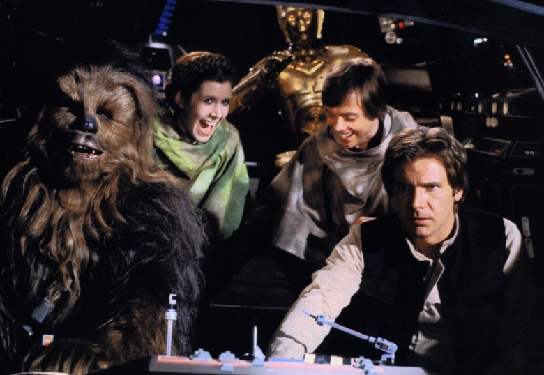 No Merchandising. Editorial Use Only. No Book Cover Usage.Mandatory Credit: Photo by Lucasfilm/Fox/Kobal/REX/Shutterstock (5886269cw)Peter Mayhew, Carrie Fisher, Anthony Daniels, Mark Hamill, Harrison FordStar Wars Episode Vi - Return Of The Jedi - 1983Director: Richard MarquandLucasfilm/20th Century FoxUSAOn/Off SetScifiReturn Of The JediLe Retour du Jedi