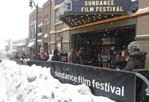 Snow piles up as people walk past the Egyptian Theater at the 2017 Sundance Film Festival in Park City, Utah, USA, 26 January 2017. The festival runs from 19 to 29 January.2017 Sundance Film Festival, Park City, Usa - 26 Jan 2017