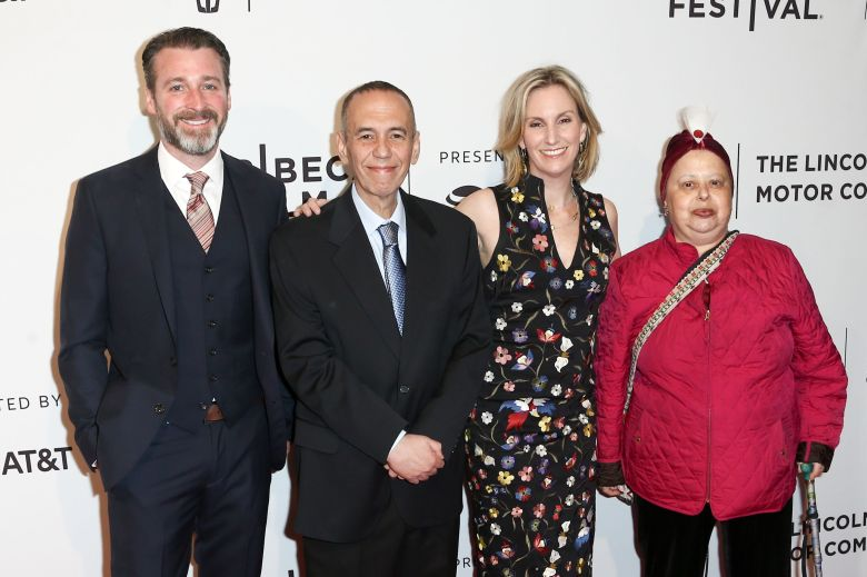 Neil Berkeley, Gilbert Gottfried, Dara Kravitz Gottfried, Arlene Gottfried'Gilbert' film premiere, Arrivals, Tribeca Film Festival, New York, USA - 20 Apr 2017