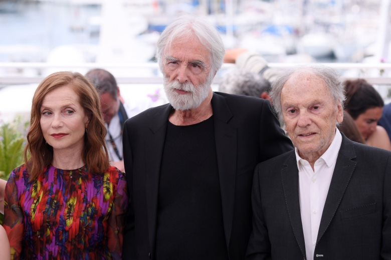 Isabelle Huppert, Michael Haneke and Jean-Louis Trintignant'Happy End' photocall, 70th Cannes Film Festival, France - 22 May 2017