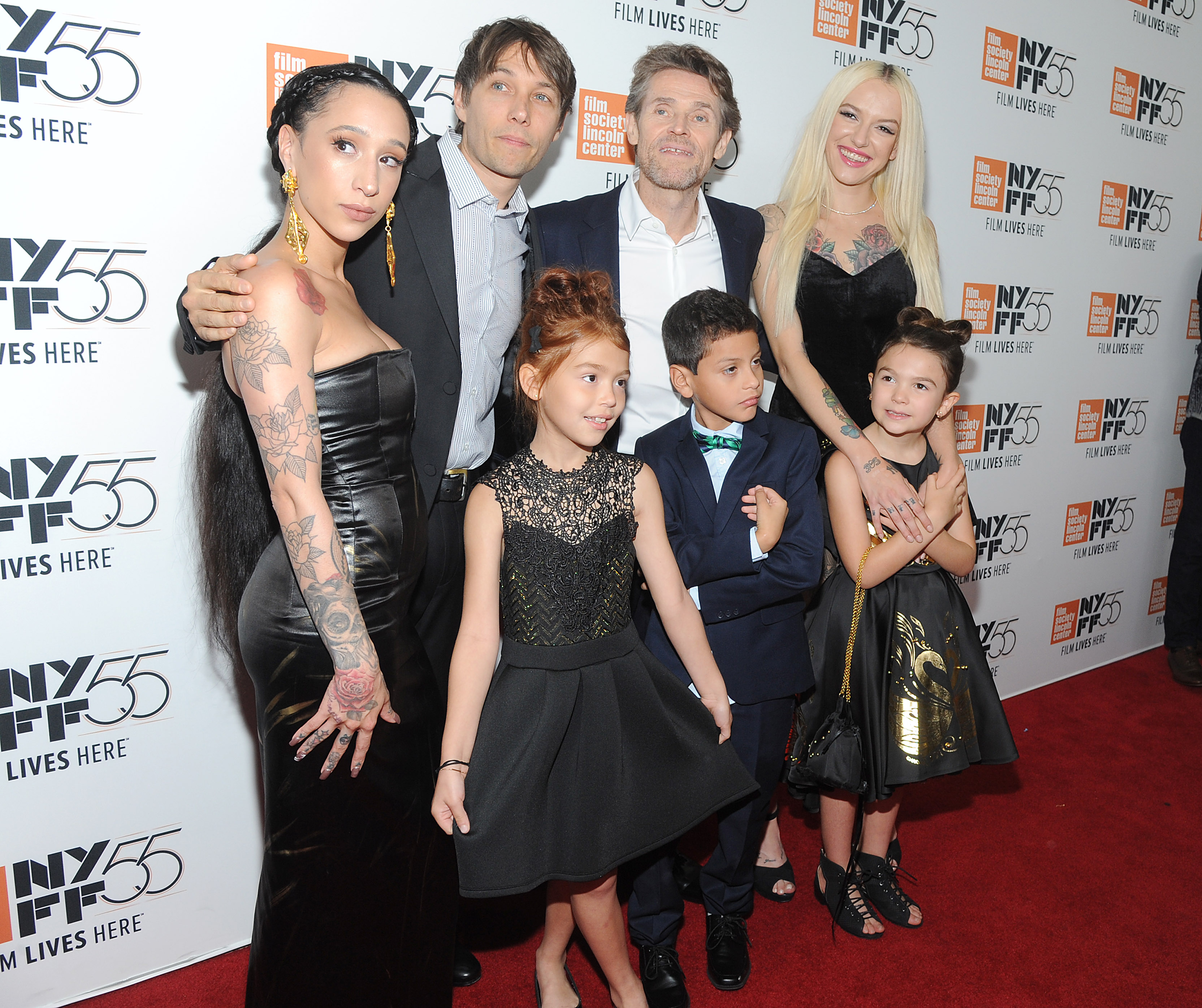 Mela Murder, Sean Baker, Bria Vinaite, Brooklynn Prince, Christopher Rivera, Willem Dafoe and Valeria Cotto'The Florida Project' premiere, Arrivals, 55th New York Film Festival, USA - 01 Oct 2017