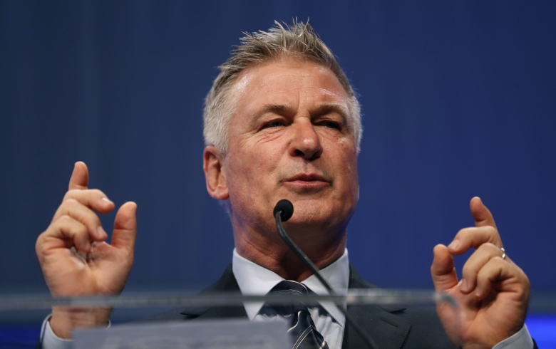 Actor Alec Baldwin speaks during the Iowa Democratic Party's Fall Gala, in Des Moines, IowaIowa Democrats Baldwin, Des Moines, USA - 27 Nov 2017