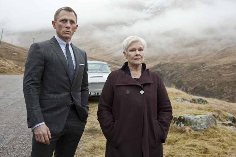 No Merchandising. Editorial Use Only. No Book Cover Usage.Mandatory Credit: Photo by Danjaq/EON Productions/Kobal/REX/Shutterstock (5886236ah)Daniel Craig, (Dame) Judi DenchSkyfall - 2012Director: Sam MendesDanjaq / EON ProductionsUK/USAScene Still