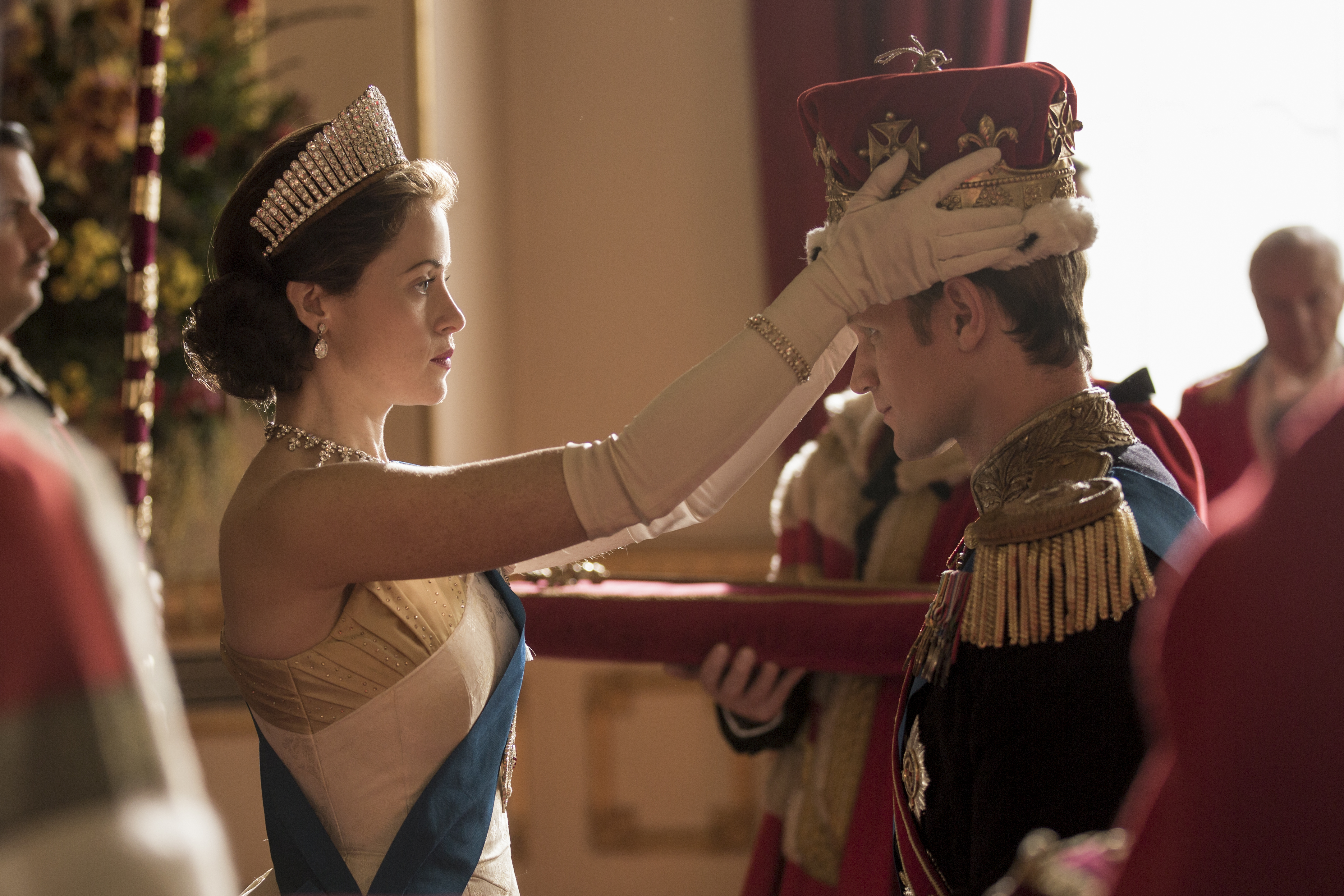 The Crown(L to R) Elizabeth, Prince PhilipQueen Elizabeth II formally makes Philip a British Prince