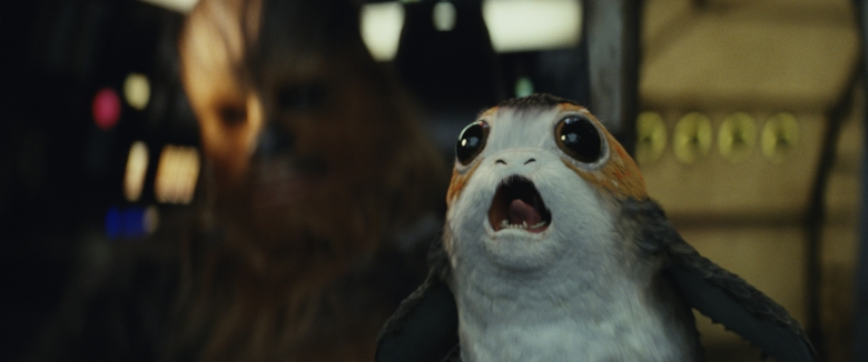 Star Wars: The Last JediL to R: Chewbacca with a PorgPhoto: Lucasfilm Ltd. © 2017 Lucasfilm Ltd. All Rights Reserved.