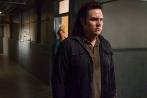 R. Keith Harris as Dr. Carson, Josh McDermitt as Dr. Eugene Porter - The Walking Dead _ Season 8, Episode 7 - Photo Credit: Gene Page/AMC