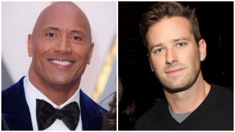 the rock armie hammer protest