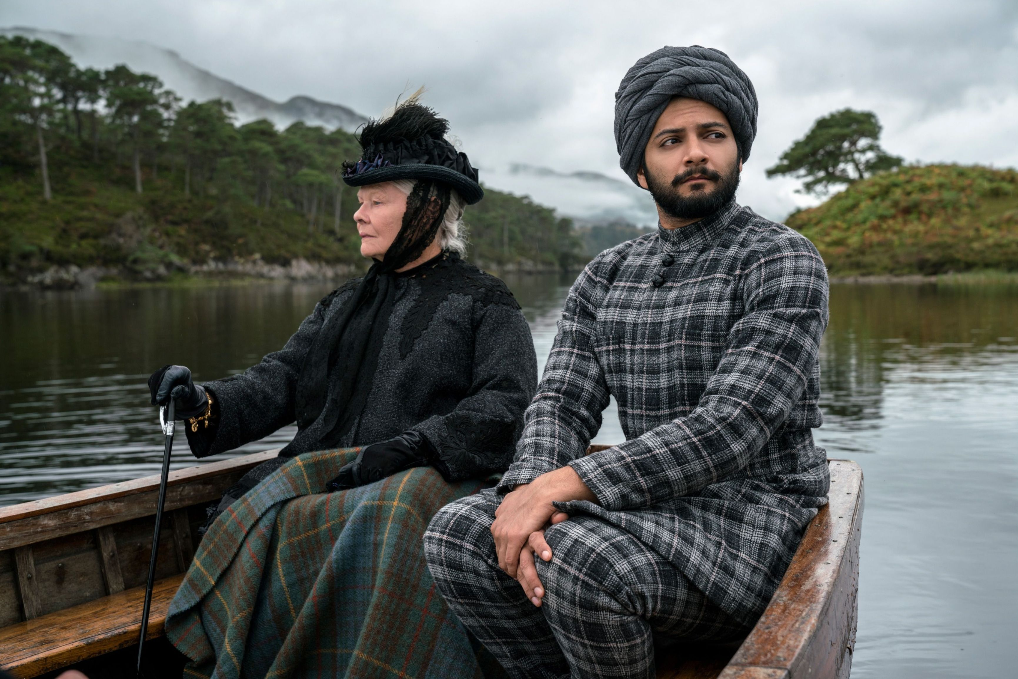 "No Merchandising. Editorial Use Only. No Book Cover UsageMandatory Credit: Photo by P Mountain/Focus Features/Kobal/REX/Shutterstock (9217970p) Judi Dench, Ali Fazal ""Victoria And Abdul"" Film - 2017"