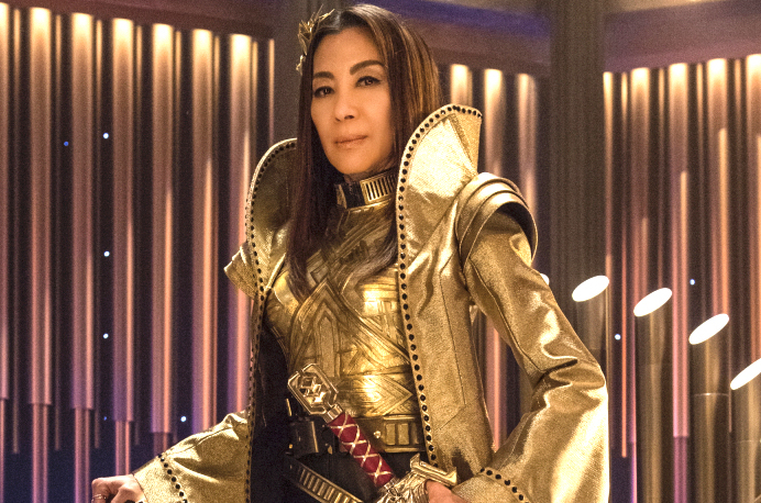 """""""Vaulting Ambition"""" -- Episode 112 -- Pictured: Michelle Yeoh as Philippa Georgiou of the CBS All Access series STAR TREK: DISCOVERY. Photo Cr: Ben Mark Holzberg/CBS © 2017 CBS Interactive. All Rights Reserved."""