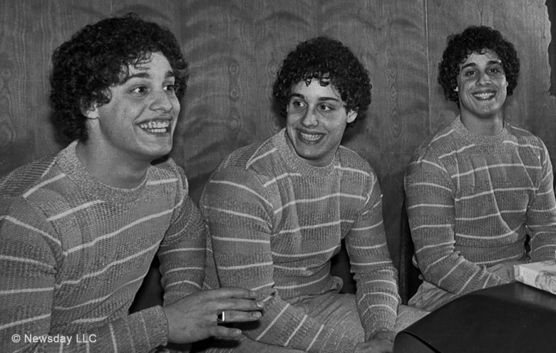 Bobby Shafran, David Kellman and Eddy Galland appear in <i>Three Identical Strangers</i> by Time Wardle, an official selection of the U.S. Documentary Competition at the 2018 Sundance Film Festival. Courtesy of Sundance Institute | photo by Newsday LLC. All photos are copyrighted and may be used by press only for the purpose of news or editorial coverage of Sundance Institute programs. Photos must be accompanied by a credit to the photographer and/or 'Courtesy of Sundance Institute.' Unauthorized use, alteration, reproduction or sale of logos and/or photos is strictly prohibited.