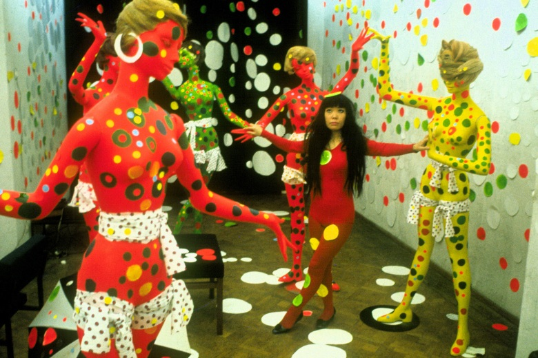 Yayoi Kusama appears in <i>Kusama - Infinity</i> by Heather Lenz, an official selection of the U.S. Documentary Competition at the 2018 Sundance Film Festival. Courtesy of Sundance Institute | photo by Harrie Verstappen. All photos are copyrighted and may be used by press only for the purpose of news or editorial coverage of Sundance Institute programs. Photos must be accompanied by a credit to the photographer and/or 'Courtesy of Sundance Institute.' Unauthorized use, alteration, reproduction or sale of logos and/or photos is strictly prohibited.