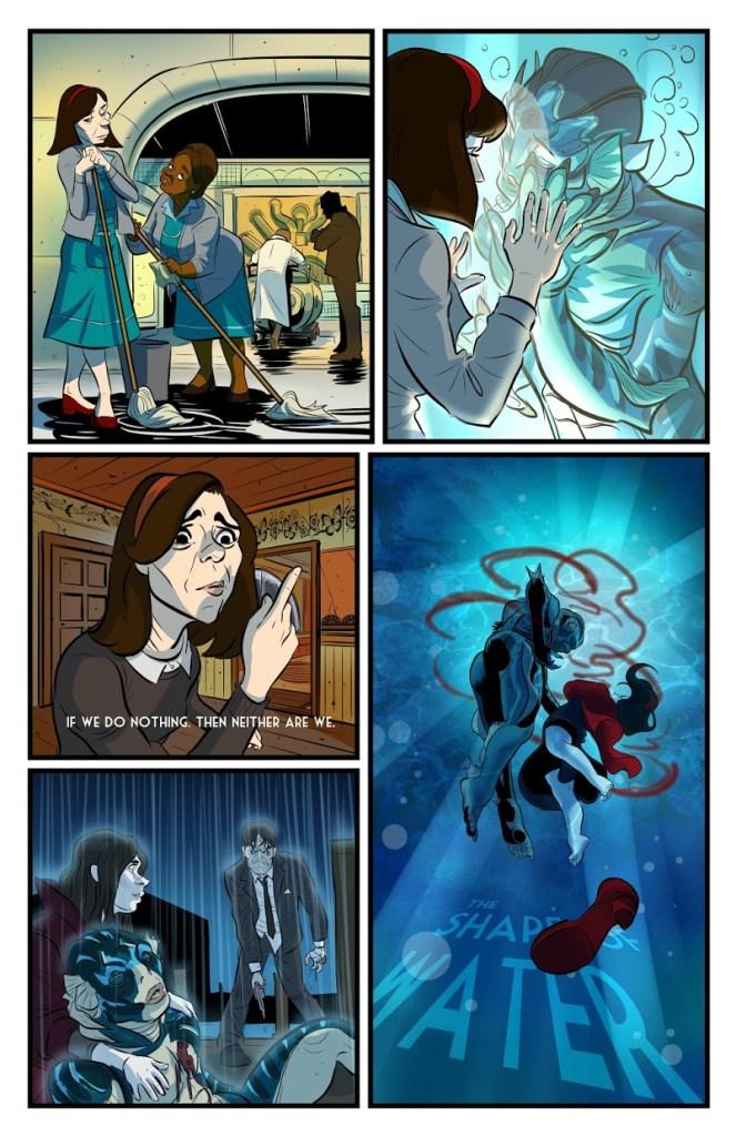 The Shape of Water Comic Strip by Ben Matsuya
