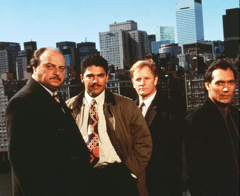 No Merchandising. Editorial Use Only. No Book Cover Usage.Mandatory Credit: Photo by Timothy White/Steven Bochco Prods./Kobal/REX/Shutterstock (5885490c)Dennis Franz, Nicholas Turturro, Gordon Clapp, Jimmy SmitsNypd Blue - 1993Steven Bochco ProductionsTelevision