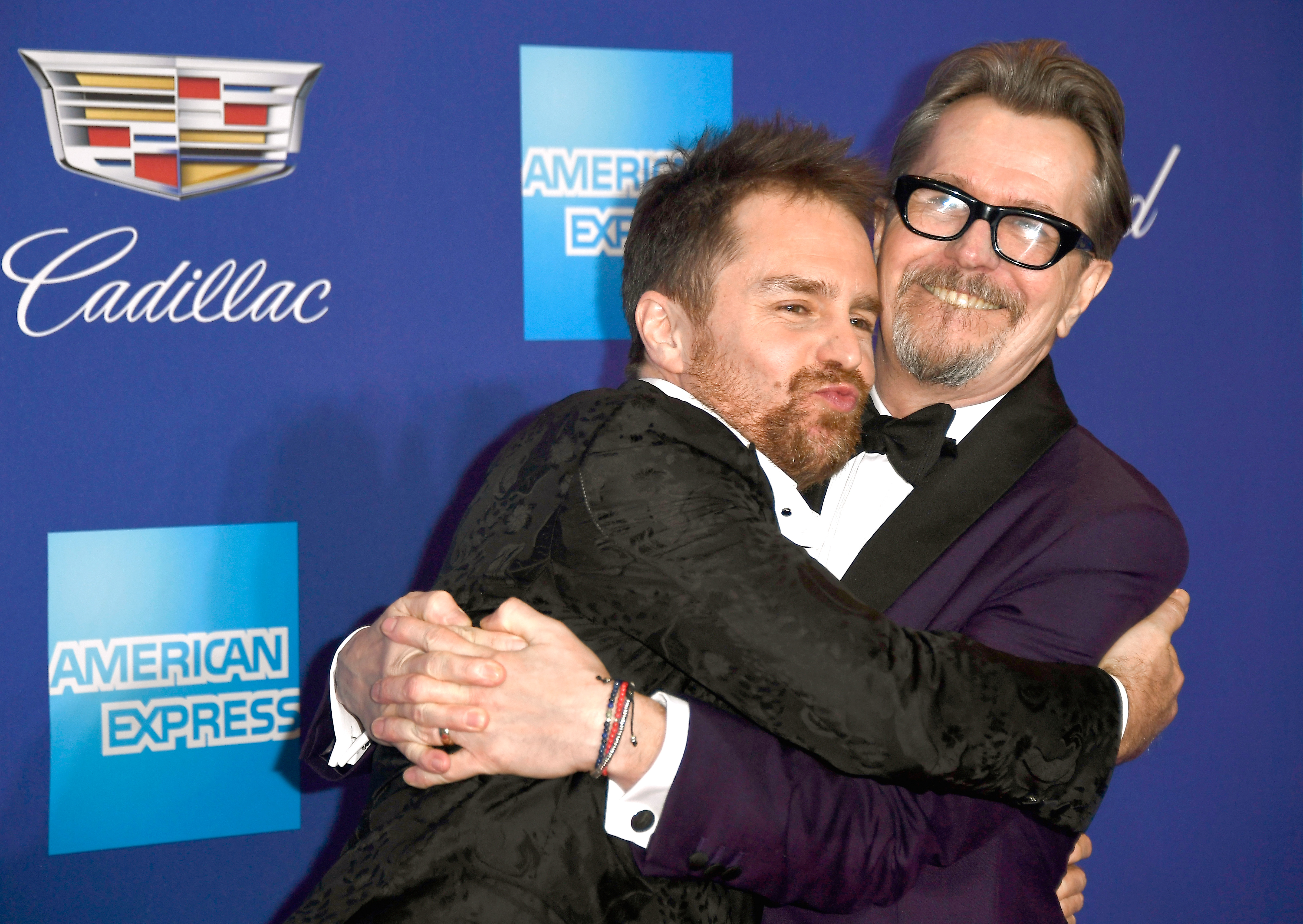 PALM SPRINGS, CA - JANUARY 02: Sam Rockwell (L) and Gary Oldman attend the 29th Annual Palm Springs International Film Festival Awards Gala at Palm Springs Convention Center on January 2, 2018 in Palm Springs, California. (Photo by Frazer Harrison/Getty Images for Palm Springs International Film Festival ) *** Local Caption *** Sam Rockwell;Gary Oldman