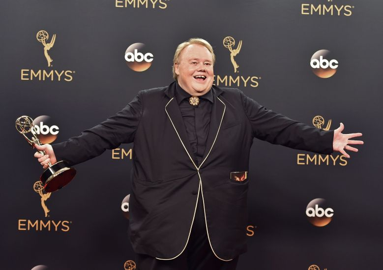 Louie Anderson winner of the award for outstanding supporting actor in a comedy series for Baskets poses in the press room at the 68th Primetime Emmy Awards, at the Microsoft Theater in Los AngelesCORRECTION 2016 Primetime Emmy Awards - Press Room, Los Angeles, USA - 18 Sep 2016